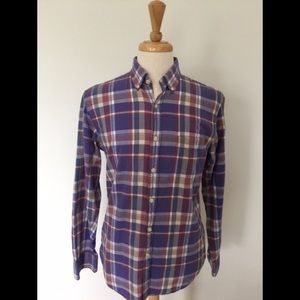 J. CREW PLAID MADRAS SHIRT
